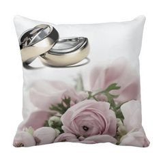 Pale Pink Roses Wedding Ring Cushion  #apinparty