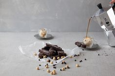 A totally dunkable chocolate and hazelnut biscotti