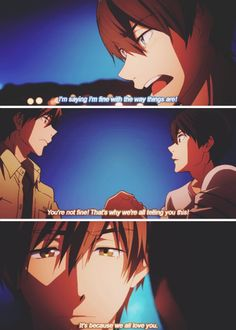 """You're not fine! That's why we're telling you this!"" ... From episode 11 ... Free! - Iwatobi Swim Club, haruka nanase, haru nanase, haru, free!, iwatobi, makoto tachibana, makoto, tachibana, nanase"