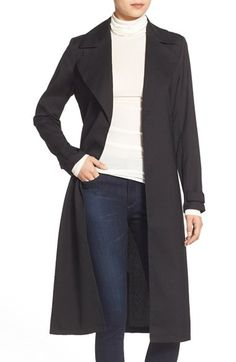 Chelsea28 Belted Crepe Trench Coat