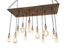 Urban Chandelier - 12 Pendant Edison Bulb, Industrial Lighting, Hanging Light Fixture, Rustic Lighting