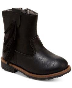 Carter's Little Girls' or Toddler Girls' Apache Boots - Black 9