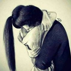 drawing with رسم بالرصاص drawing with pencil - Cute Bear Drawings, Cute Couple Drawings, Anime Couples Drawings, Cute Couple Art, Anime Love Couple, Cute Anime Couples, Love Drawings, Colorful Drawings, Pencil Drawings