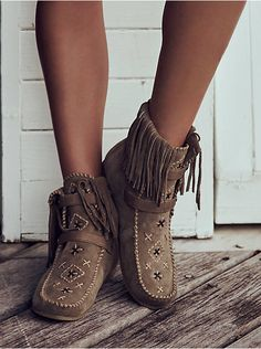 Free People Mila Embriodered Moccasin, $129.95