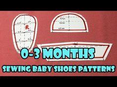 DIY - Sewing Baby Shoes Patterns Tutorial (0-3months) | Tạo mẫu cắt may giầy cho bé (0-3 tháng) - YouTube