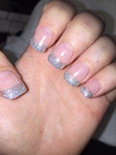 Glitter tip nails!