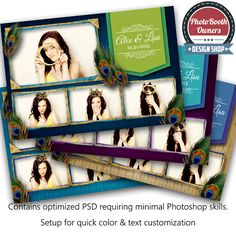 This bright, festive, and sophisticated template features beautiful peacock feathers and classic vibrant peacock colors. This design is perfect for any peacock themed wedding, birthday, etc! This is color customizable to match any event theme.