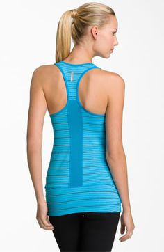 Outfit #1  Zella 'Easy Racer' Stripe Tank available at Nordstrom