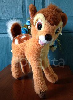 1992 MATTEL 14 large standing plush BAMBI stuffed toy by Dollalita, $10.00