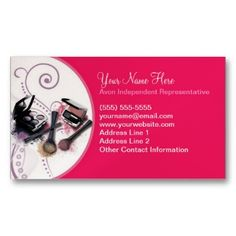 Business Card Ideas Consultant Marketing Avon S Cool Cards