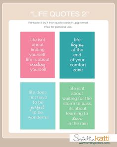 Free Life Quotes 2 Cards from Smitha Katti