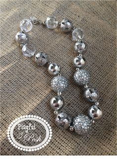 playfulandposh@gmail.com Find Playful and Posh on Facebook and Instagram! Toddler Necklace, Girl Necklace, Silver Necklace, Kid Accessories, Kid Fashion, Girly Girl