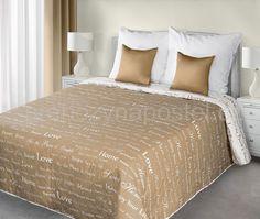 Dekoratívny béžovo bílý přehoz na postele