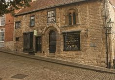 The Jews House, or The Norman House, was built in the Mid 12th. Century and formaly known as Arron the Jews House. It is one of the earliest intact town houses in England. It is situated on Steep Hill below Jews Court in Lincoln, Lincolnshire, UK.