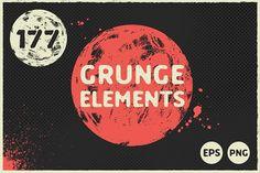 177 Grunge Elements by Cactus Studio on @creativemarket