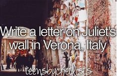 Bucket list...before I die