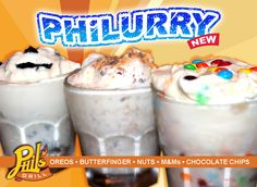 Want a way to cool off from a HOT Louisiana day? Get a signature Phil's Grill PHiLURRY!