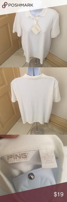 Ping Collection Golf/Polo Shirt Sz L Women White NWT. Runs true to size Ping Tops Tees - Short Sleeve