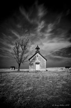 Abandon 1 room school house in Kansas. 8x10 fine art photography print JeremyHolmesArt on etsy