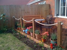 Synthetic Hemp Rope Garden Decking from RopeandSplice.co.uk