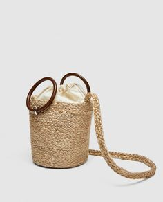 ZARA - WOMAN - TOTE WITH WOODEN HANDLES