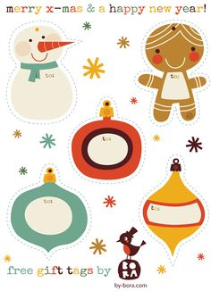 Gluesticks: 10 Printable Christmas Tags {Free}