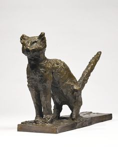 Pablo Picasso 1881 - 1973 LE CHAT ACCROUPI Stamped with foundry mark C. Valsuani Cire Perdue and numbered 1/6 Bronze Length: 20 1/4 in. 51.4 cm Conceived and cast in 1943.