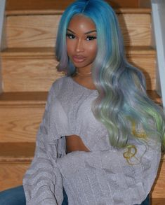 Gorgeous Aint Even The Word !Get The Look! Customized With Coded Culture Hair Collection Premium hair bundles, wigs, frontal, closures, amp;: Tag Stylist/Model ____ lture lture ltureTag your bestie Baddie Hairstyles, My Hairstyle, Weave Hairstyles, Ponytail Hairstyles, Curly Hair Styles, Natural Hair Styles, Hair Colorful, Hair Laid, Lace Hair