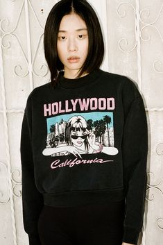 Purchase the new sweatshirt from Fall 2018 collection by Local Authority because colder days are almost here! Sporty Outfits, Sporty Style, Cotton Fleece, Cold Day, Covergirl, Fall 2018, Mock Neck, Black Cotton, Hollywood