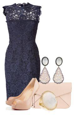 Lace Dress by ljjenness on Polyvore featuring Valentino, Christian Louboutin, Fendi and Ippolita