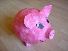 Sparschwein aus Pappmache