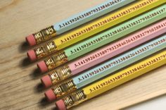 The Pi Pencil Pi Day Class Pack - 30 Pencils Free Domestic Shipping from Wacodis on Etsy. Saved to Geek Goodies. Math Test, Math Class, Math Education, Math Teacher, Fun Math, Pi Day Wedding, Cool Erasers, Happy Pi Day, Cool Mom Picks