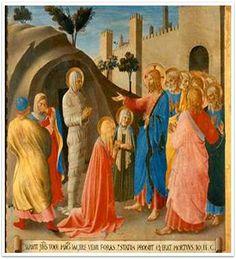 죽은 나사로를 되살리심, 프라 안젤리코, 1450