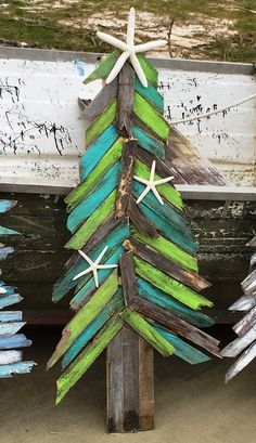 "Handcrafted ""Island Tree"" Coastal Holiday Tree by Jimmy & Jaime McPhillips (from Outer Banks Trading Group)"