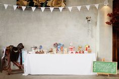 sweets table setup