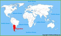 Argentina location on the World Map