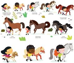 Horses illustrations from french artist Mélisande Luthringer