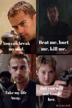 """""""Puedes romper mi alma. Dispárame, hiéreme, mátame. Podrás tomar mi vida. Pero a ella no la tocarás"""""""