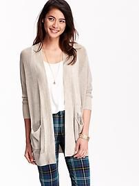 Women's Boyfriend Open-Front Cardigans | Apparel | Pinterest ...