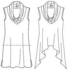 Maternity Sewing:McCall's 6121 Asymmetric Hemline Knit Top