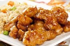 Morceaux de poulet panés cuits au four...Sauce miel, citron et gingembre