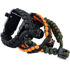 MagiDeal 2 Pieces//Set Durable Emergency Whistles with Adjustable Wrist Strap for Scuba Diving Kayaking Hiking Camping Outdoor