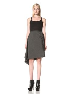 70% OFF RICK OWENS Women\'s Woven Skirt (Darkshadow)