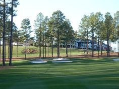 Hole 18 and club house at Sage Valley Golf Club