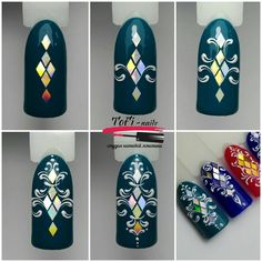 Simple Nail Art Designs That You Can Do Yourself – Your Beautiful Nails Nail Art Diy, Easy Nail Art, Cool Nail Art, Diy Nails, Cute Nails, Nail Designs Spring, Cute Nail Designs, Nail Art Modele, Nail Art Arabesque