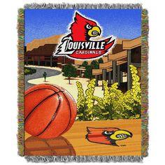 Louisville Cardinals NCAA Woven Tapestry Throw (Home Field Advantage) (48x60)