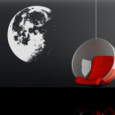 realistic moon wall decal. would look cool on the ceiling