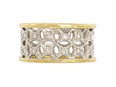 Sabbadini Diamond Band Ring in Platinum and 18K