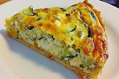 Pizza Recipes Sheep cheese – zucchini – quiche of Araya Zuchini Quiche, Zucchini Quiche Recipes, Zucchini Tortilla, Zucchini Tart, Zucchini Parmesan, Recipe Zucchini, Cheese Quiche, Easy Healthy Breakfast, Vegan Breakfast Recipes