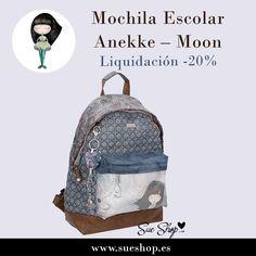 """Consigue en sueshop.es la Mochila Escolar Anekke de la colección """"Moon"""", ahora por tan solo 39,12€!! @sueshop_es #anekke #mochila #escolar #descuento #oferta #liquidacion"""